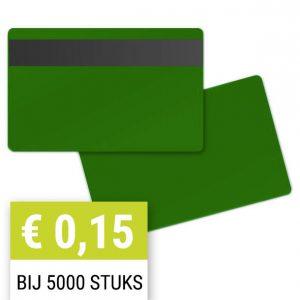 Blanco-magneetkaart-0-76-mm-groen-HiCo-PPC