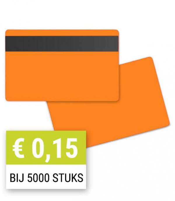 Blanco-magneetkaart-0-76-mm-oranje-HiCo-PPC