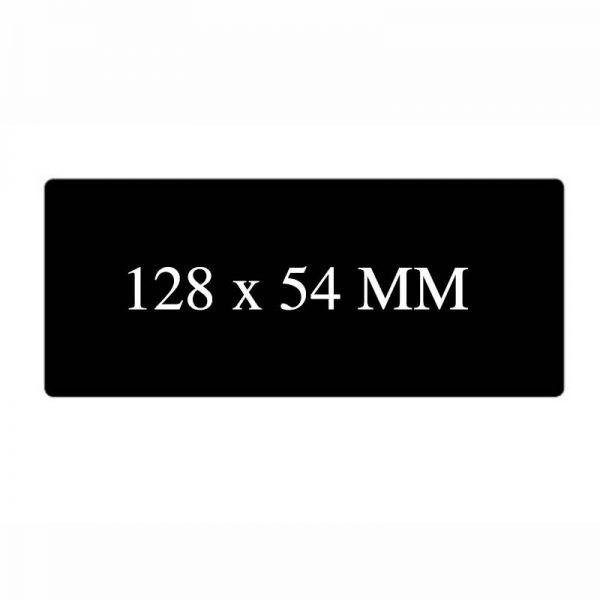 Blanco kaart 128x54mm Zwart mat