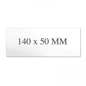 Blanco prijskaartje 140x50mm Wit