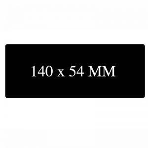 Blanco kaart 140x54mm Zwart mat