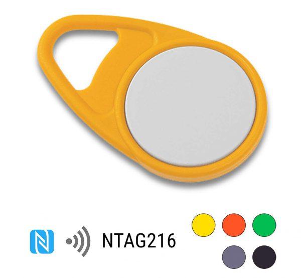 keyfob-NFC-Tag-NTAG216-Drop-PPC-geel