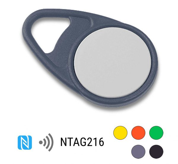 keyfob-NFC-Tag-NTAG216-Drop-PPC-grijs