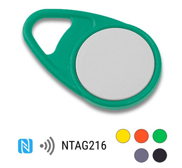 keyfob-NFC-Tag-NTAG216-Drop-PPC-groen