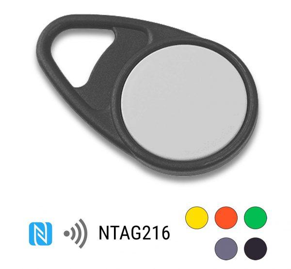 keyfob-NFC-Tag-NTAG216-Drop-PPC-zwart
