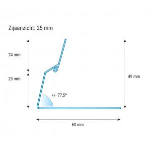 prijskaarthouder_25mm_afmetingen_exceet