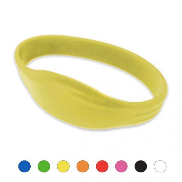 Mifare-Polsbandje-IDENTband-Siliconen-geel