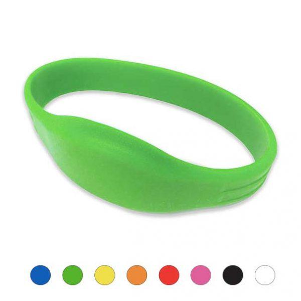 Mifare-Polsbandje-IDENTband-Siliconen-groen