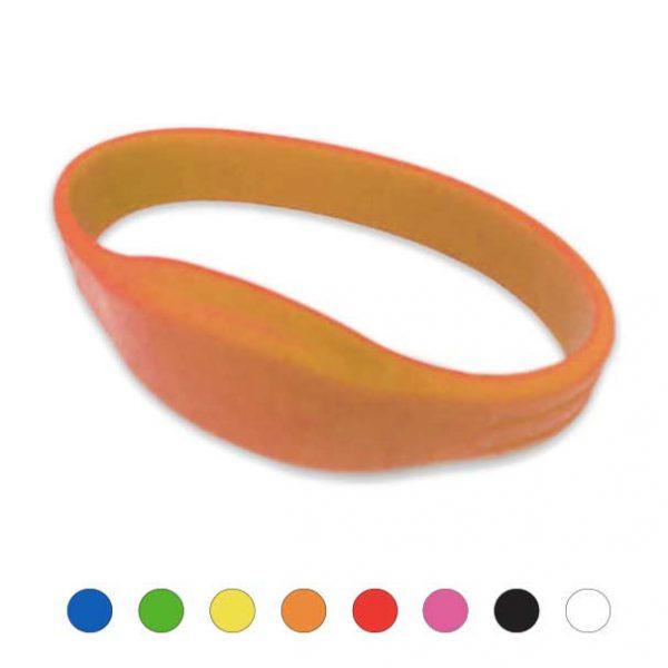 Mifare-Polsbandje-IDENTband-Siliconen-oranje