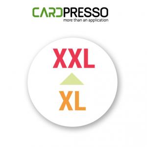 Cardpresso upgrade van xl naar xxl
