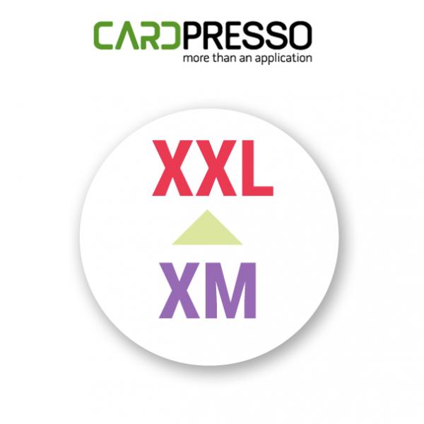 cardpresso upgrade van xm naar xxl