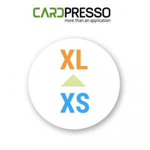 cardpresso upgrade van xs naar xl