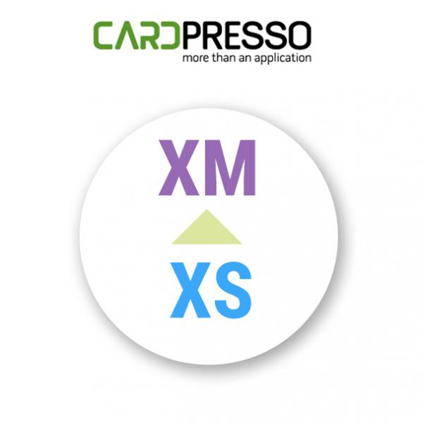 Upgrade CardPresso XS naar XM