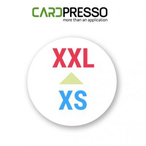Cardpresso upgrade van XS naar XXL