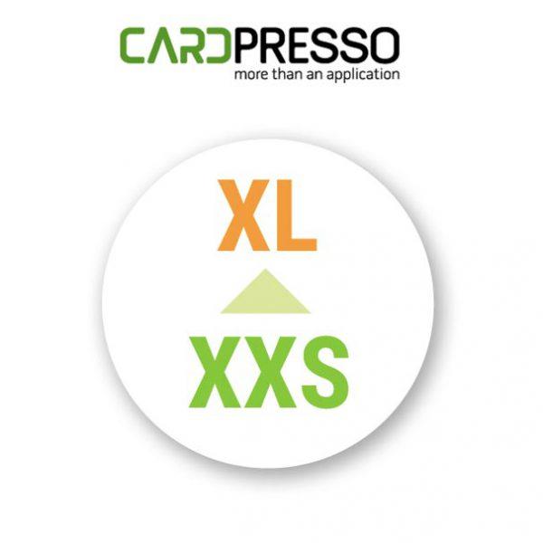 Cardpresso upgrade van xxs naar xl