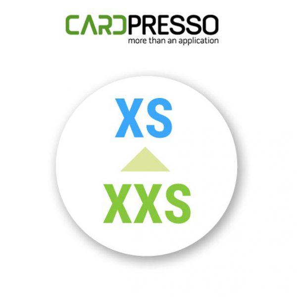 Cardpresso upgrade van xxs naar xs