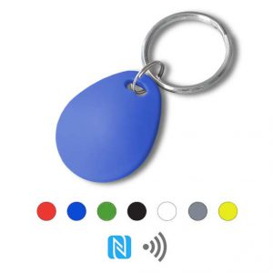 Keyfob sleutelhanger eco blauw Rfid NFC