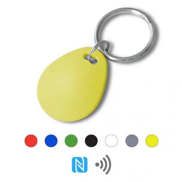 Keyfob sleutelhanger eco geel Rfid NFC