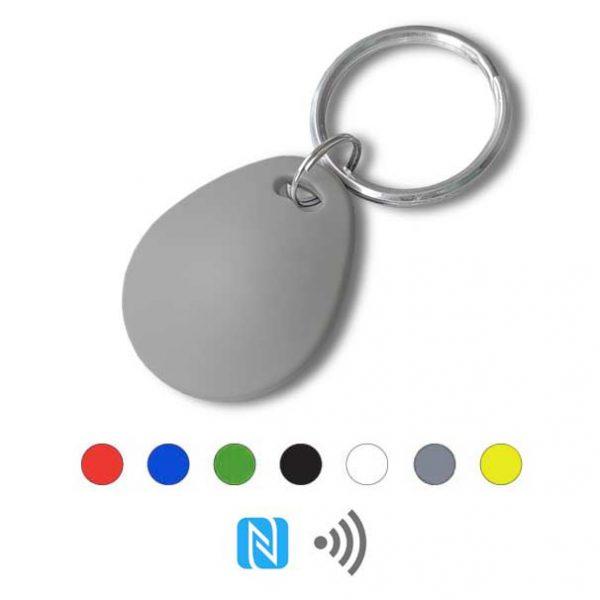 Keyfob sleutelhanger eco grijs Rfid NFC