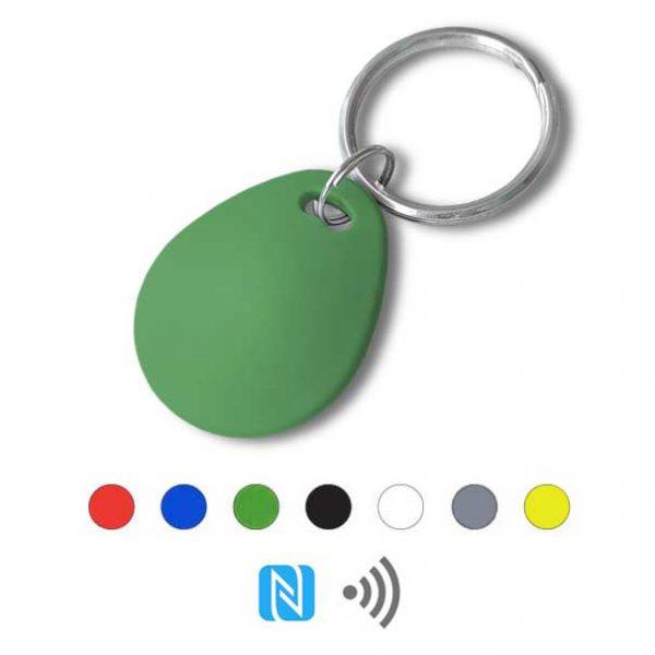 Keyfob sleutelhanger eco groen Rfid NFC