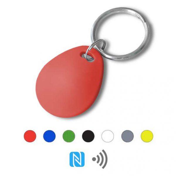Keyfob sleutelhanger eco rood Rfid NFC