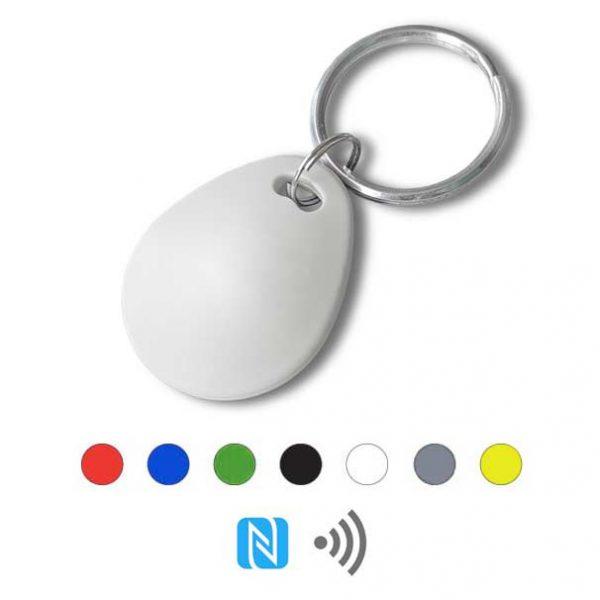 Keyfob sleutelhanger eco wit Rfid NFC