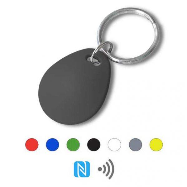 Keyfob sleutelhanger eco zwart Rfid NFC